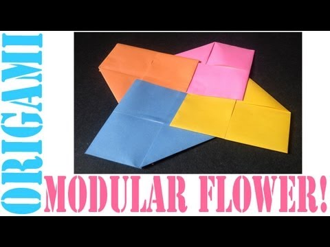 Origami Daily - 052: Modular Flower (4 Piece) - TCGames [HD]