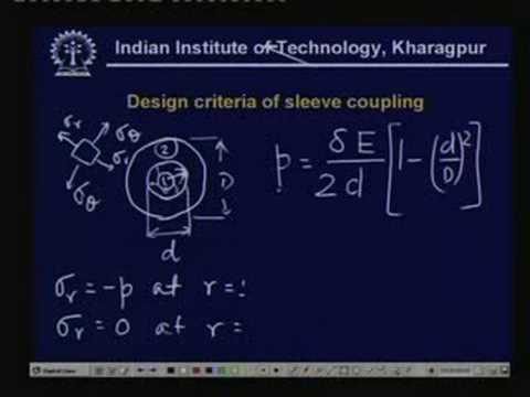 Lecture - 20 Shaft Couplings - I