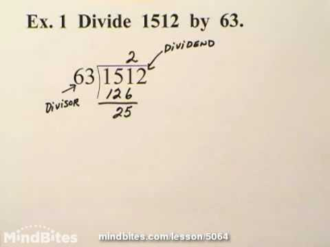 Basic Algebra: Polynomial Long Division