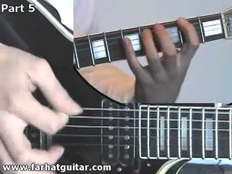 Enter sandman Metallica Guitar Cover Part 10 Full Song FarhatGuitar.com