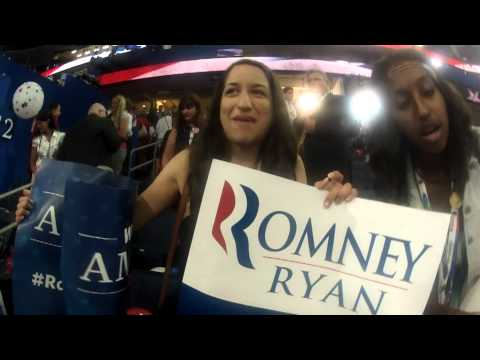 Hatcam Highlight: Girls Dance After Romney's Speech