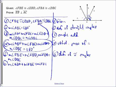 Perpendicular Lines Geometry Proof