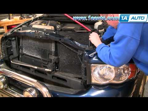 How To Install Repair Replace Part 1 AC Condensor Cooling Fan Dodge Ram 02-08 1AAuto.com