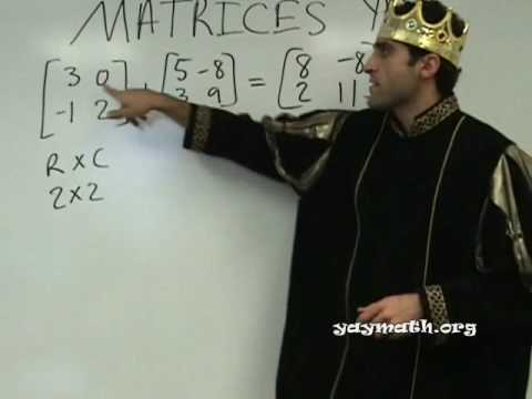 Algebra 2 - Intro to Matrices
