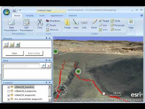 GPS to GIS:  Mapping Field Data with ArcGIS Explorer:  Example of Completed Project