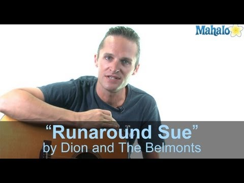 "How to Play ""Runaround Sue"" by Dion and The Belmonts on Guitar (Practice Cover)"