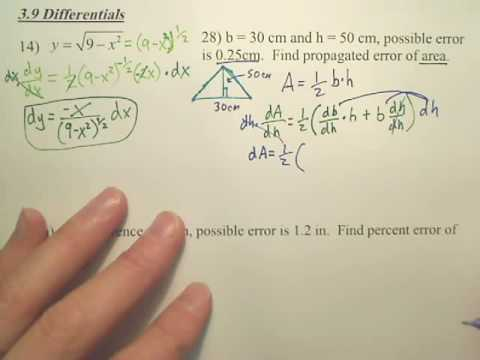 3.9a Differentials - Calculus
