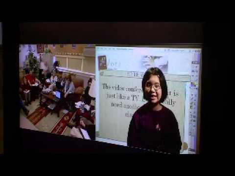 Adora teaching via video conference