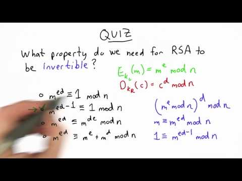 Correctness Of Rsa Solution - CS387 Unit 4 - Udacity