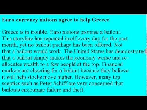 Accent Reduction Learn English Lesson #23 Greek Bailout!