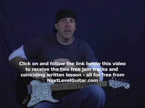 Guitar lesson rock blues lick of the week series pedal tone liks or pivot riffs on Fender strat