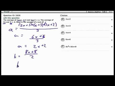 "Grockit SAT Math ""Work That Question"" (2828)"