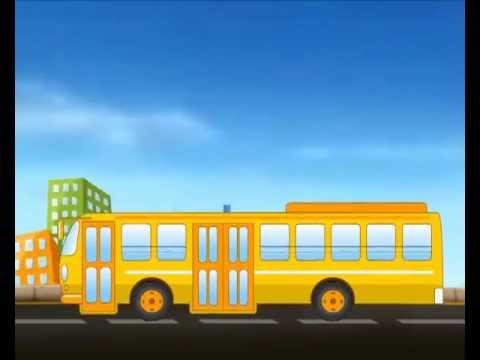 The Wheels On The Bus -  nursery animated rhyme