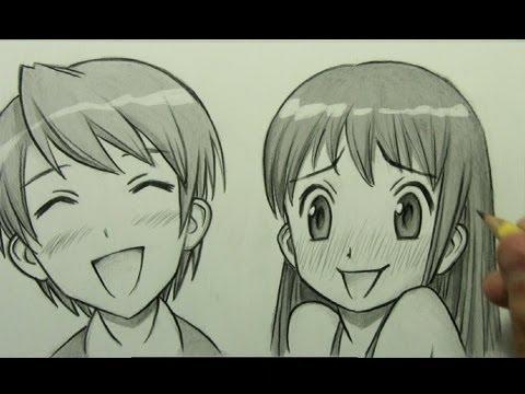 How to Draw Manga Facial Expressions (Joy, Embarrassment)