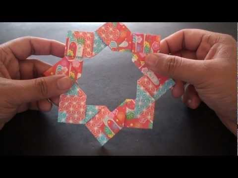 Origami Daily - 235: Modular 8 Unit Star (Ring) - TCGames [HD]