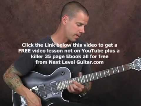 Dimebag Darrell Pantera style lead soloing electric guitar lesson fast groove metal