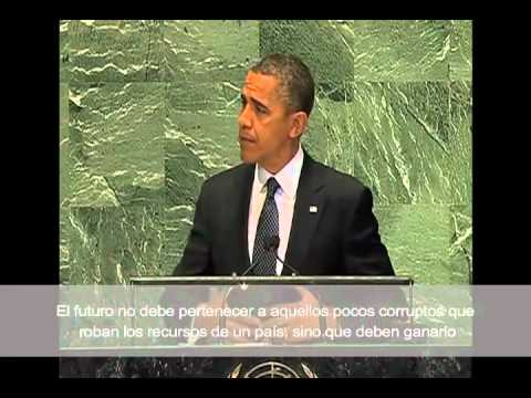 Obama Address at U.N. : Build a Future of Tolerance, Opportunity with Spanish Subtitles