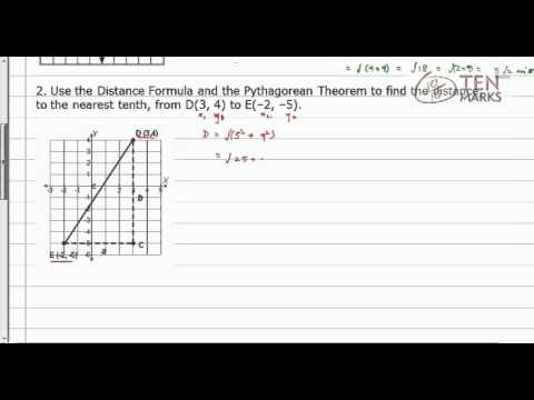 Distance Problem and the Pythagorean Theorem