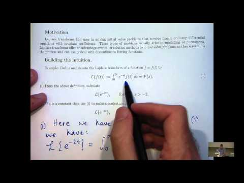 Intro to Laplace transform and how to calculate them