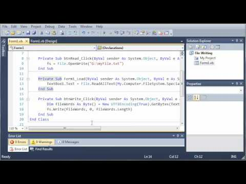 Visual Basic Tutorial - 127 - Special Directories And File Attributes