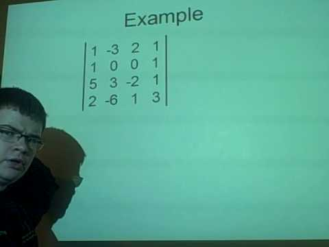Matrices - Calculating determinant