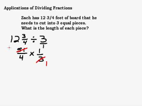 Applications of Dividing Fractions Part I