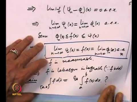 Mod-06 Lec-22 Lebesgue Integral and its properties