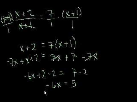 Algebra: Linear Equations 4