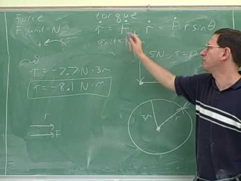 Physics: Rotational kinematics and torque (11)