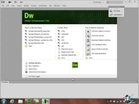 Dreamweaver CS6 Tutorial:  Basic HTML - Part 4