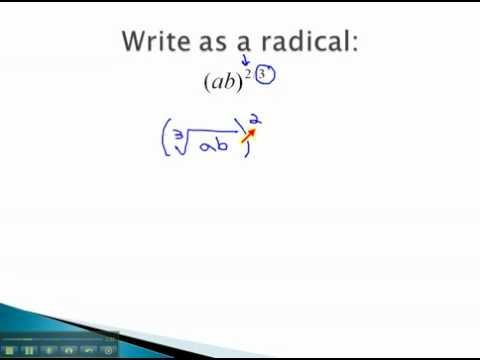 Rational Exponents - Convert