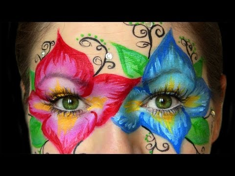 Flower Mask Creative Makeup
