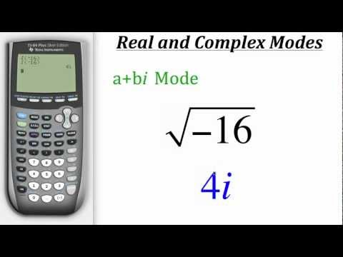 TI Calculator Tutorial: Real & Complex Modes