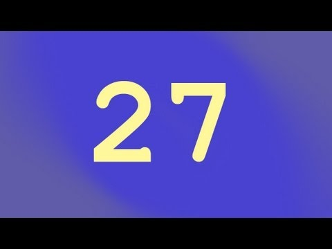 27 the Favourite Number - Numberphile