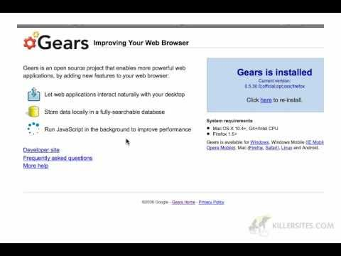 Using Gears to speed up Wordpress