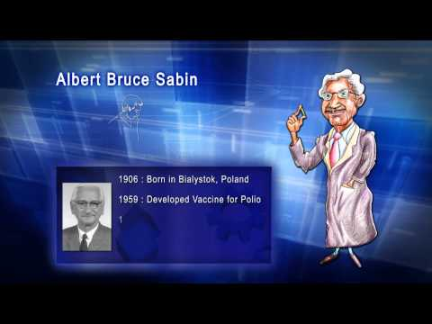 Top 100 Greatest Scientist in History For Kids(Preschool) - ALBERT BRUCE SABIN