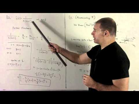 Constructing Power Series from Functions 1b - More Geometric Power Series