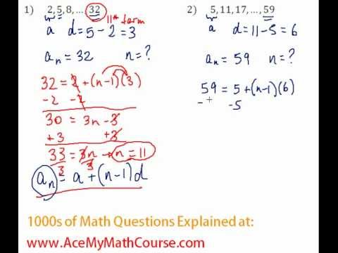 Arithmetic Sequences - Finding the Number of Terms Question #2