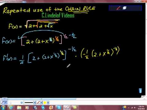 Repeated Application of the Chain Rule Square Roots