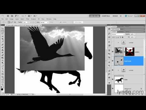 Combining pictures to create an original image | lynda.com tutorial