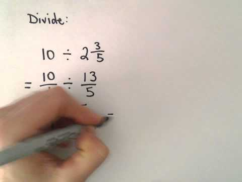 Dividing Fractions and Mixed Numbers, Ex 2