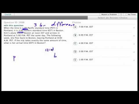 Grockit SAT Math - Multiple Choice: Question 2998