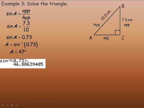 Sine and Cosine Ratios Part 2
