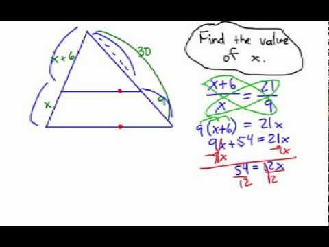 How to Solve Triangle Proportional Parts
