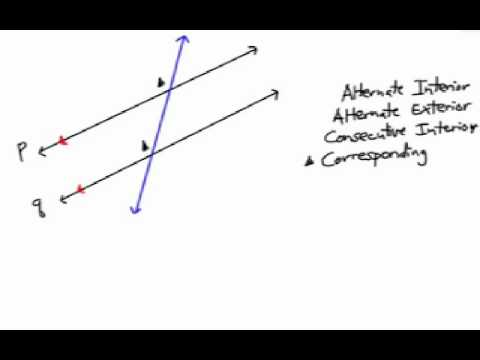 How to Find Parallel Line Angles: Corresponding & Consecutive Interior