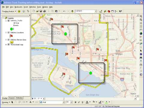 Adding Live Data to ArcMap Using Tracking Analyst