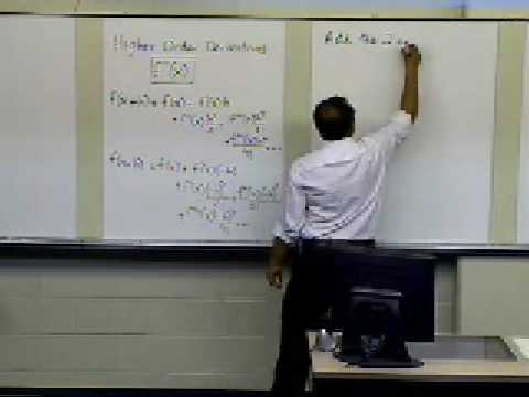 Numerical Differentiation of Continuous Functions: Higher Order Derivatives: Theory