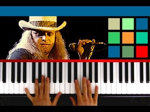 "How To Play ""Sweet Home Alabama"" Piano Tutorial / Sheet Music (Lynyrd Skynyrd)"