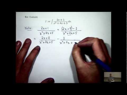 Integration: quadratic denominators
