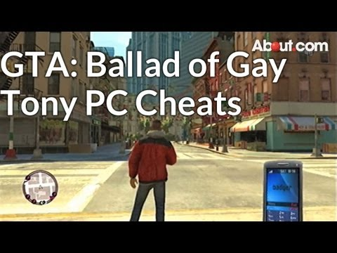 Cheats and Codes for Grand Theft Auto: The Ballad of Gay Tony on PC